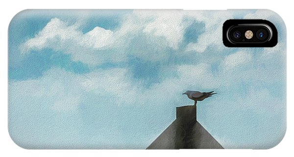 Cypress iPhone Case - Gull And Sky by Marvin Spates