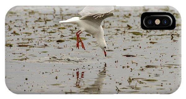 Gull Fishing 01 IPhone Case