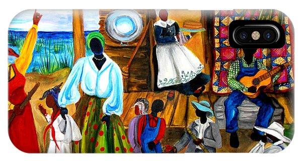 African American iPhone Case - Gullah Christmas by Diane Britton Dunham