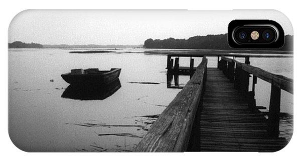 iPhone Case - Gullah Coast Bateau Bw by Althea Sumpter