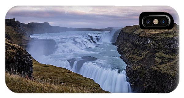 IPhone Case featuring the photograph Gullfoss, Sunrise by James Billings