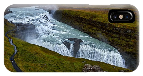 Gullfoss Waterfall #2 - Iceland IPhone Case