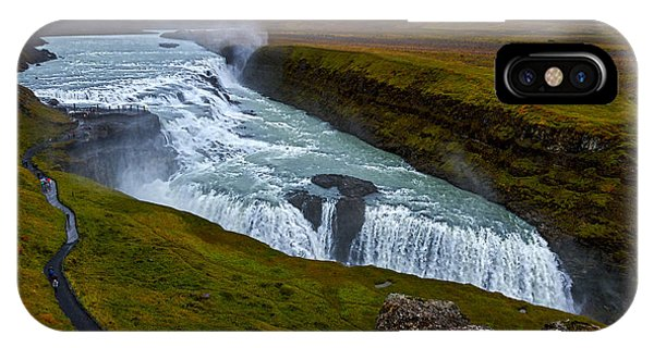 Gullfoss Waterfall #2 - Iceland IPhone Case