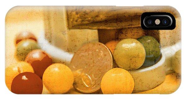 Dispenser iPhone Case - Gumballs Dispenser Antiques by Jorgo Photography - Wall Art Gallery