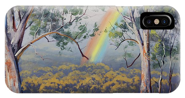 Realism iPhone Case - Gums With Rainbow by Graham Gercken