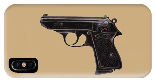 Gun - Pistol - Walther Ppk IPhone Case