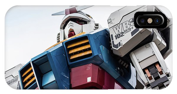 Odaiba iPhone Case - Gundam Mobile Suit Rx-78-2 Statue Odaiba Tokyo Japan by Roald Nel