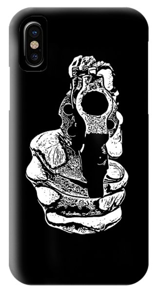 Men iPhone Case - Gunman T-shirt by Edward Fielding