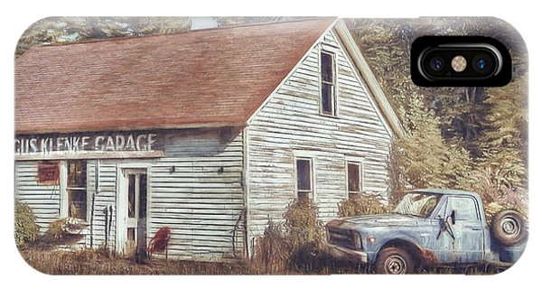 Truck iPhone X Case - Gus Klenke Garage by Scott Norris