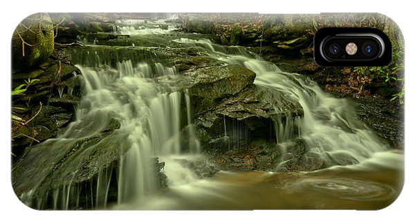 Somerset County iPhone Case - Gushing At Cave Falls by Adam Jewell