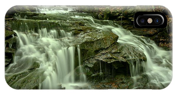 Somerset County iPhone Case - Gushing Through Forbes State Forest by Adam Jewell