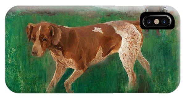 Swedish Painters iPhone Case - Gustaf Kolthoff Hunting by Bruno Liljefors