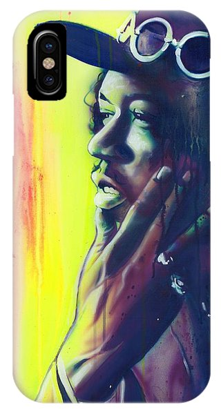Neon iPhone Case - Gyspy Sun And Rainbows by Christian Chapman Art