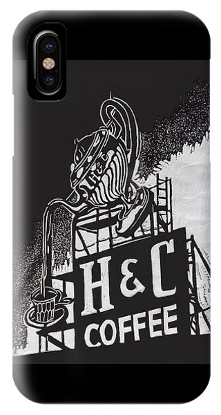 H And C Coffee Sign IPhone Case