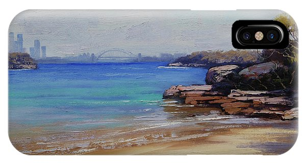 Nature Scene iPhone Case - Habour Beach Sydney by Graham Gercken