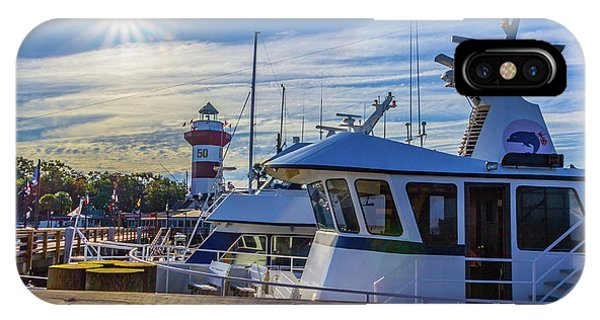 Habour Town Lighthouse And Marina IPhone Case