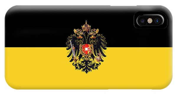 Habsburg Flag With Imperial Coat Of Arms 3 IPhone Case