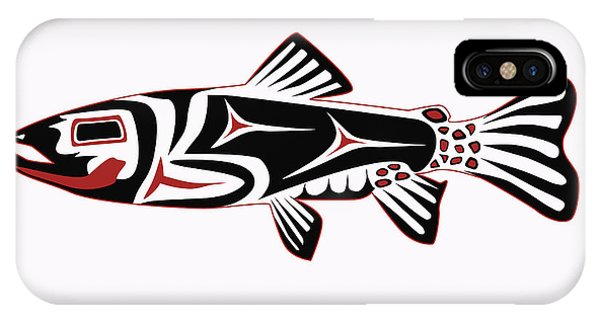 Trout iPhone Case - Haida Trout by Rob Tullis