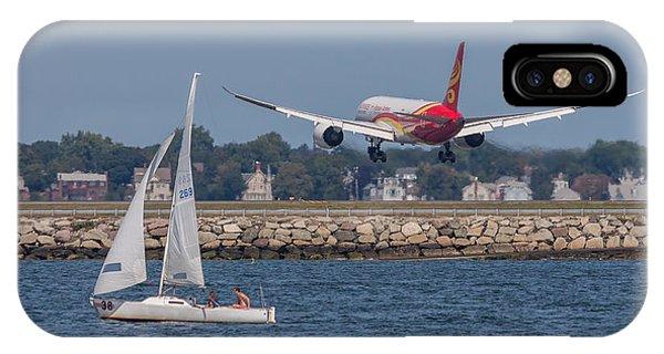 Hainan Airlines 787 Dreamliner Landing At Logan IPhone Case