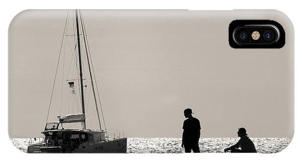 Catamaran iPhone Case - Halcyon Days by Dave Bowman