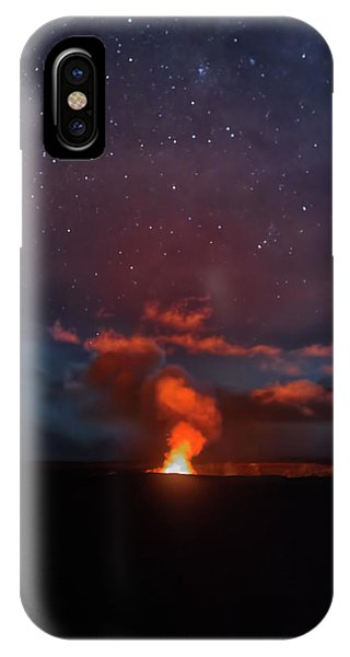 Halemaumau Crater At Night IPhone Case