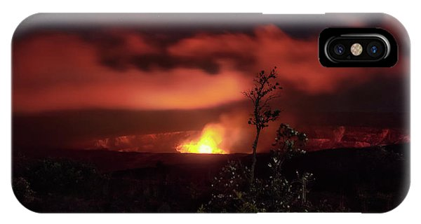 IPhone Case featuring the photograph Halemaumau Crater by Susan Rissi Tregoning