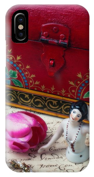 Half Doll With Red Chest IPhone Case