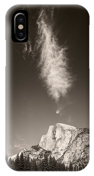 IPhone Case featuring the photograph Half Dome And Cloud by Bryan Mullennix