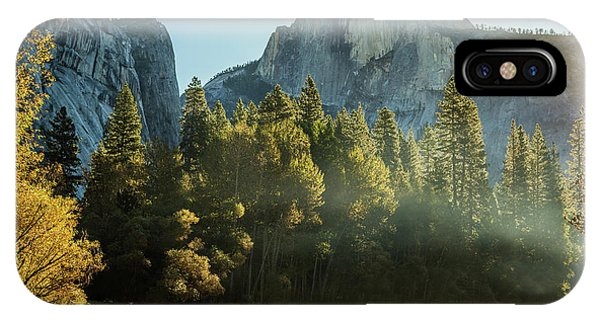 Half Dome And Merced River Autumn Sunrise IPhone Case