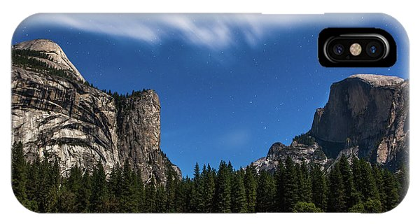 Half Dome And Moonlight - Yosemite IPhone Case