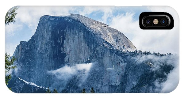 Half Dome In The Clouds IPhone Case