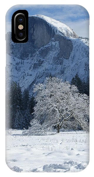 iPhone Case - Half Dome In Winter by Christine Jepsen