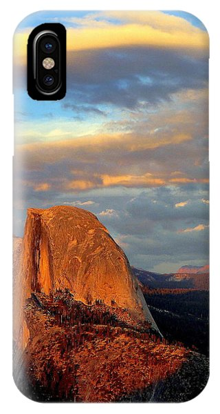 Half Dome Sunset Colorful Clouds Vertical IPhone Case