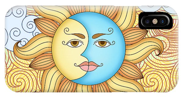 Good Humor iPhone Case - Half Moon And The Sun by Peter Awax
