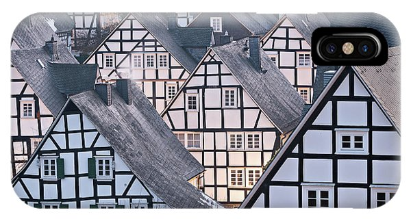 IPhone Case featuring the photograph Half-timbered Houses In Detail In Germany by IPics Photography