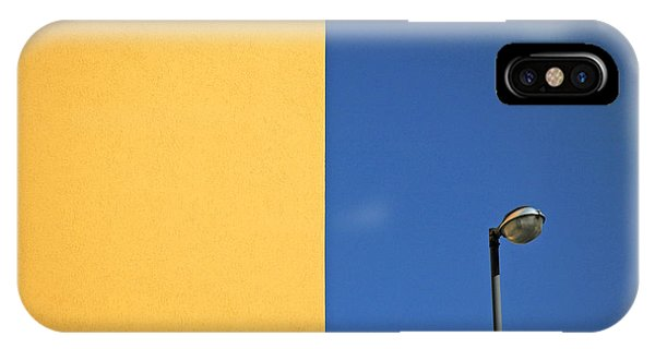 Colorful iPhone Case - Half Yellow Half Blue by Silvia Ganora