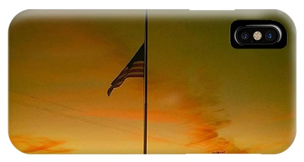 Patriotic iPhone Case - #halfstaff For Some Reason Today. This by Alex Snay