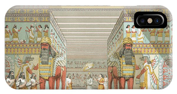 Palace iPhone Case - Hall In Assyrian Palace by Austen Henry Layard
