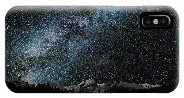 IPhone Case featuring the photograph Hallet Peak - Milky Way by Gary Lengyel
