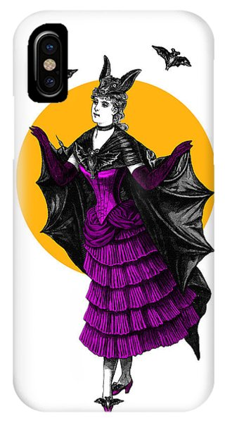Bat iPhone Case - Halloween Batgirl by Madame Memento