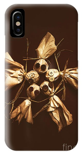 Sinister iPhone Case - Halloween Horror Dolls On Dark Background by Jorgo Photography - Wall Art Gallery