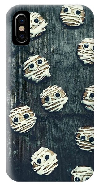Icing iPhone Case - Halloween Mummy Cookies by Jorgo Photography - Wall Art Gallery
