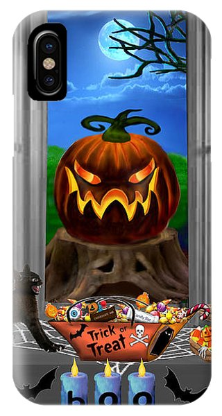 Dark Humor iPhone Case - Halloween Night Stalker by Glenn Holbrook
