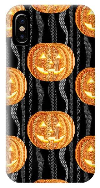Fall iPhone Case - Halloween Pattern by Veronica Kusjen