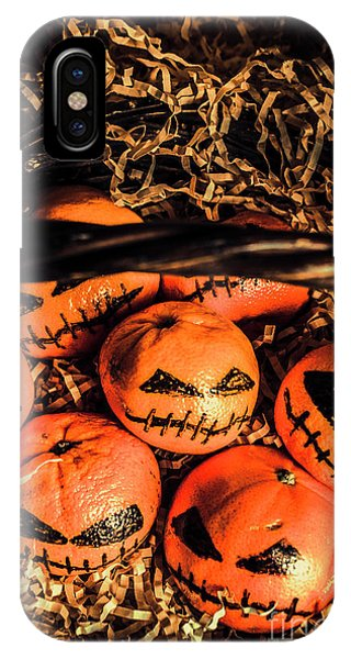 Halloween Pumpkin Head Gathering IPhone Case