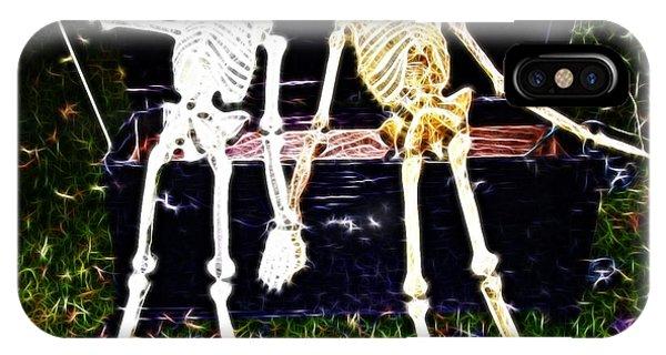 Halloween Skeleton Couple IPhone Case