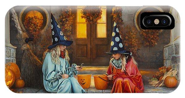 Porch iPhone Case - Halloween Sweetness by Greg Olsen