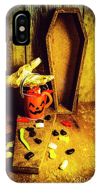 Nobody iPhone Case - Halloween Trick Of Treats Background by Jorgo Photography - Wall Art Gallery