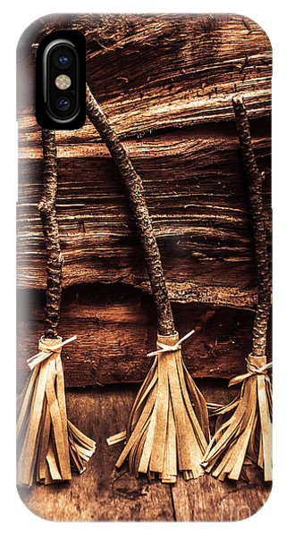 Gallery Wall iPhone Case - Halloween Witch Brooms by Jorgo Photography - Wall Art Gallery