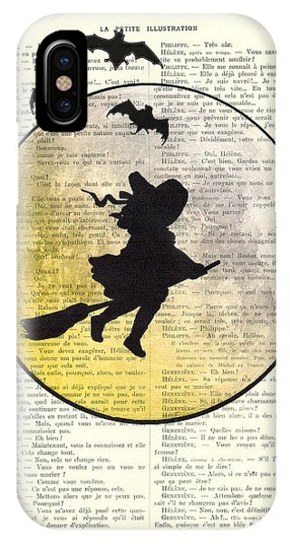 Bat iPhone Case - Witch Flying With Full Moon by Madame Memento